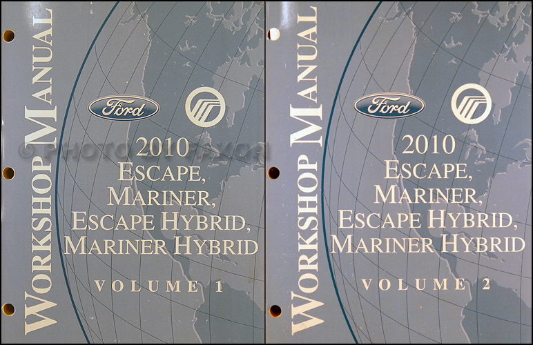 2009 Escape & Hybrid, Mariner & Hybrid Repair Manual Original Set