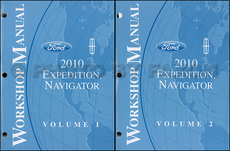 2010 Ford Expedition Lincoln Navigator Repair Shop Manual Original 2 Volume Set