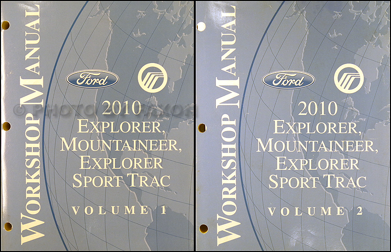 2010 Ford Explorer and Sport Trac Mercury Mountaineer Repair Shop Manual Set