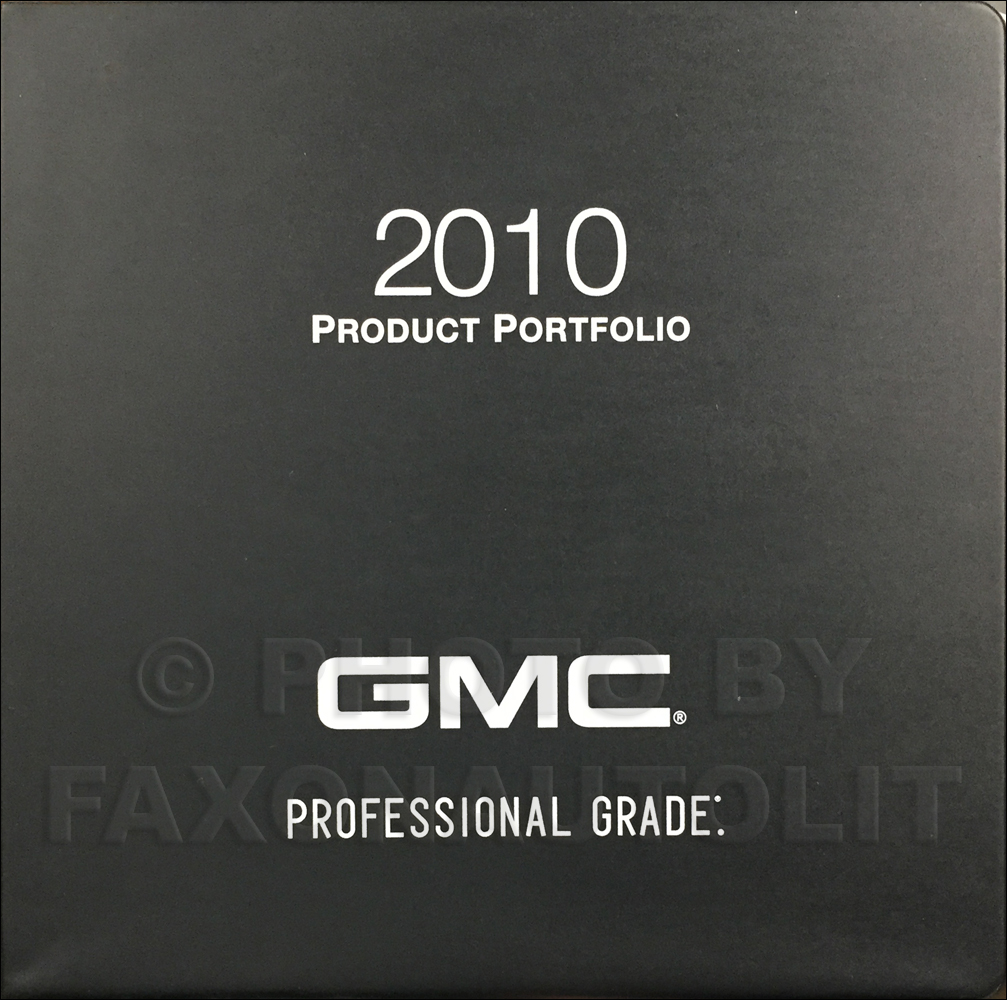 2010 GMC Color & Upholstery Dealer Album/Data Book Original