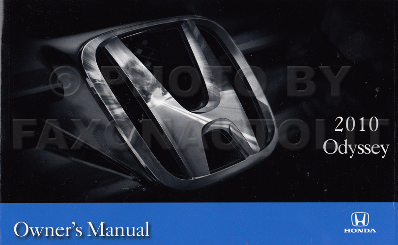 2010 Honda Odyssey Owner's Manual Original