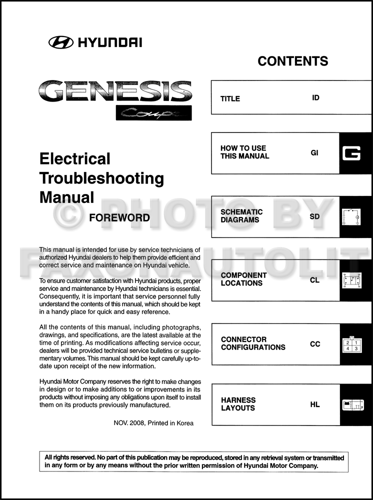 2010 hyundai genesis coupe electrical troubleshooting manual original rh faxonautoliterature com