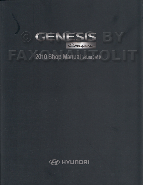 2009 Hyundai Genesis Repair Manual 3 Volume Set Original