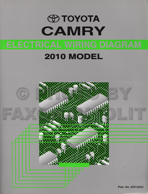 2010 toyota camry wiring diagram manual original Toyota Stereo Wiring Diagram A56409