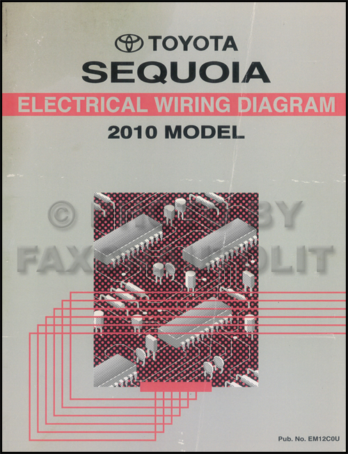 2010 Toyota Sequoia Wiring Diagram Manual Original