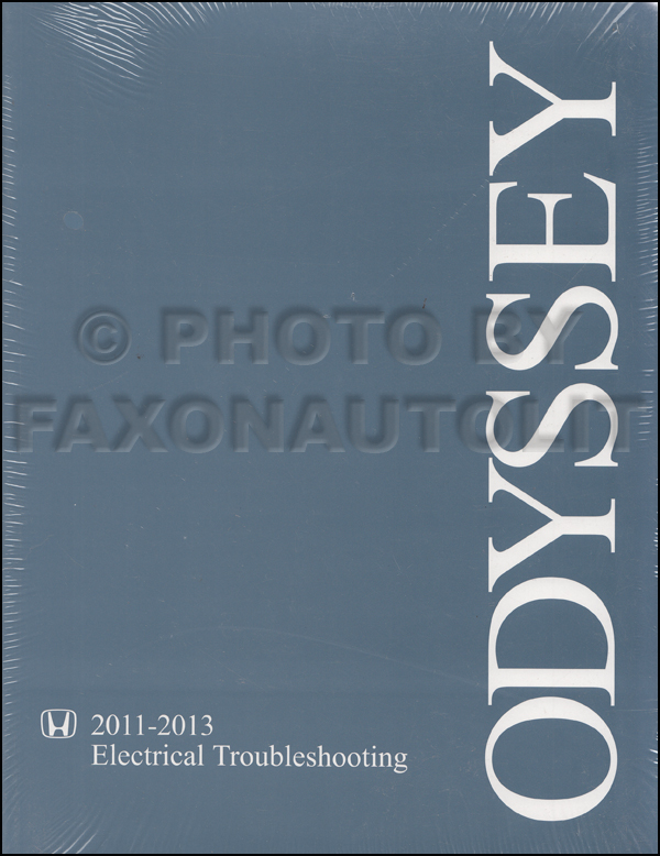 2011-2013 honda odyssey electrical troubleshooting manual original  faxon auto literature