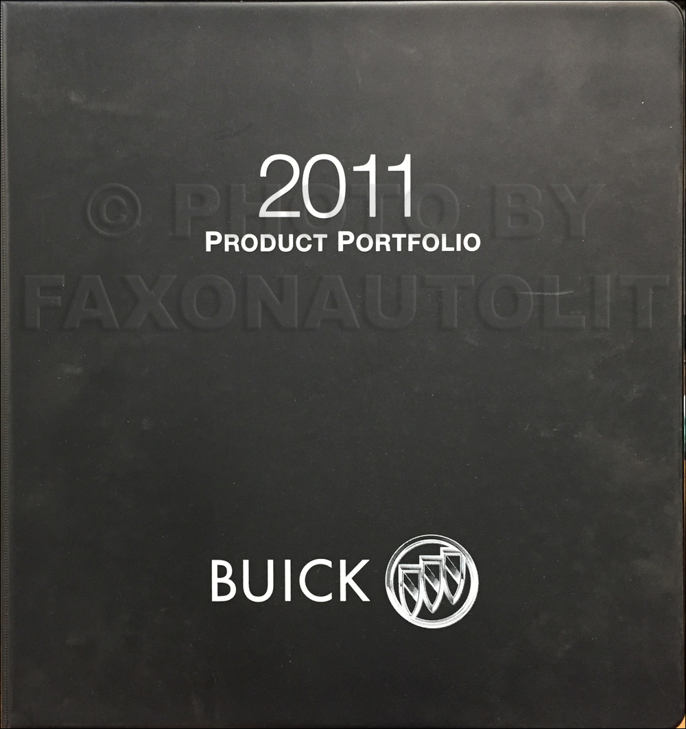 2011 Buick Color & Upholstery Dealer Album/Data Book Original
