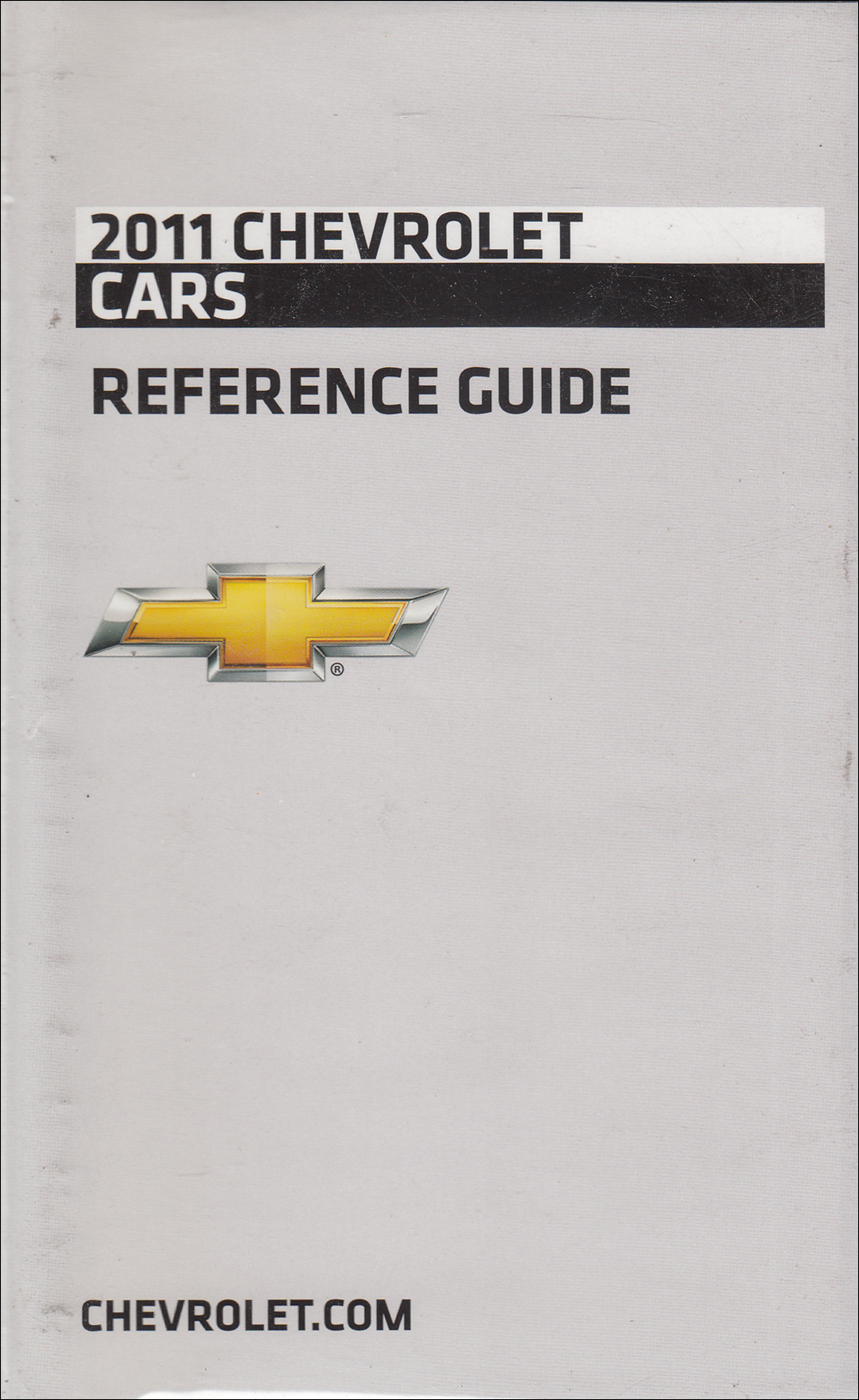 2011 Chevrolet Car Data Book with Color & Upholstery Original
