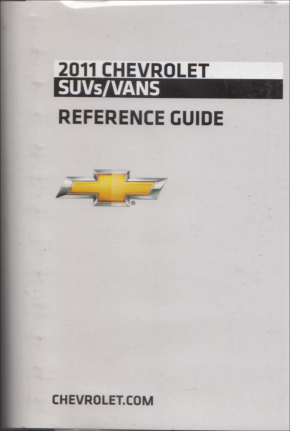 2011 Chevrolet SUV & Vans Data Book with Color & Upholstery Original