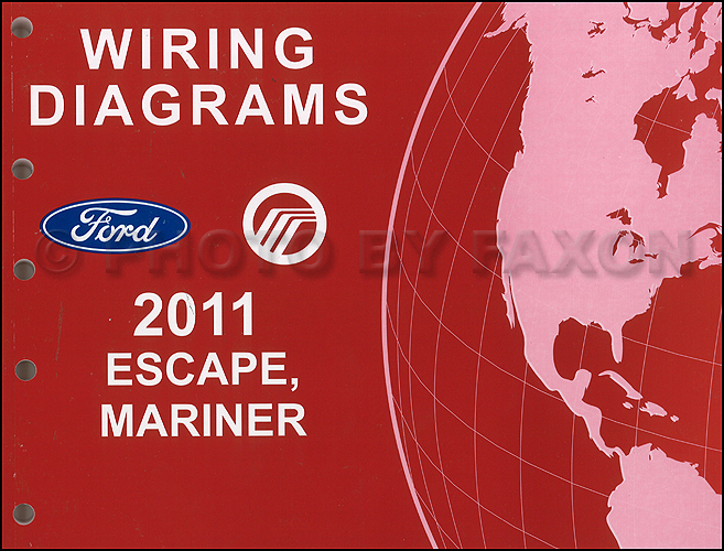 2011 ford escape mercury mariner wiring diagram manual original for rh faxonautoliterature com 2011 ford escape radio wiring diagram 2011 ford escape headlight wiring diagram