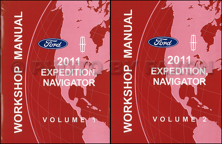 2011 Ford Expedition and Lincoln Navigator Repair Shop Manual Original 2 Volume Set