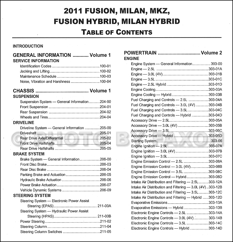 2006 ford fusion se v6 fuse box diagram 2011 ford fusion, mercury milan, lincoln mkz repair shop ... 07 ford fusion owners manual fuse box
