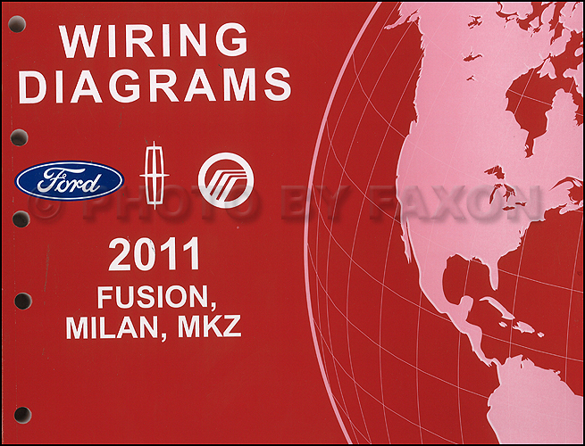2011 Ford Fusion Mercury Milan Lincoln MKZ Wiring Diagram Manual Original Gasoline Models