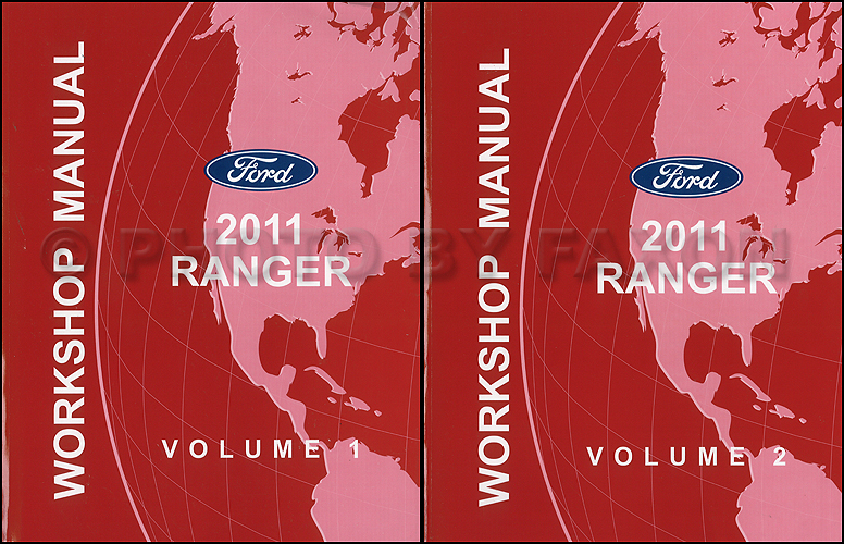 2011 Ford Ranger Repair Shop Manual Original 2 Volume Set