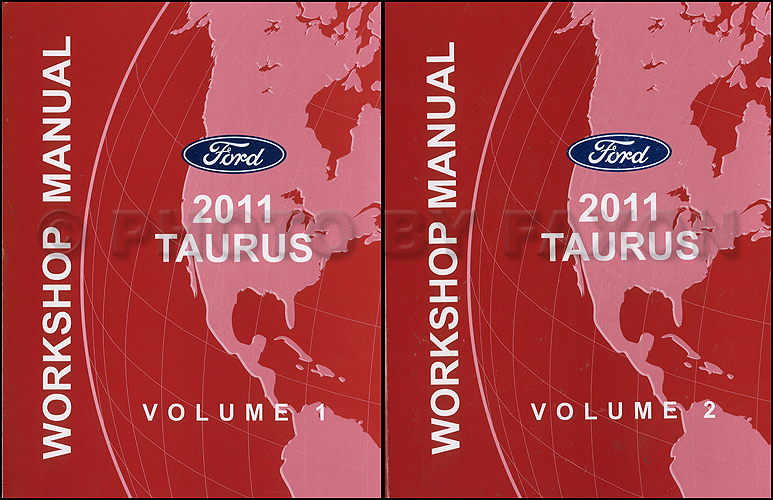 2011 Ford Taurus Repair Shop Manual Original 2 Volume Set