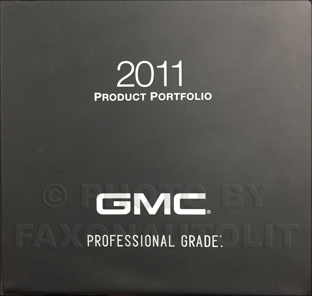 2011 GMC Light Duty Color & Upholstery Dealer Album/Data Book Original