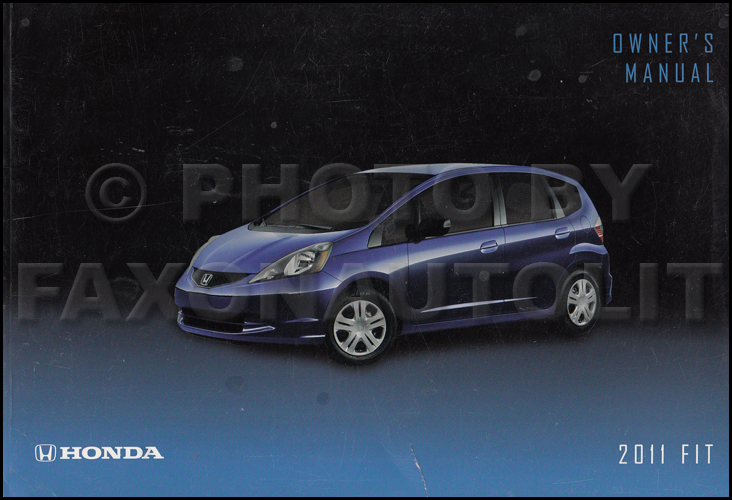 2011 Honda Fit Owner's Manual Original