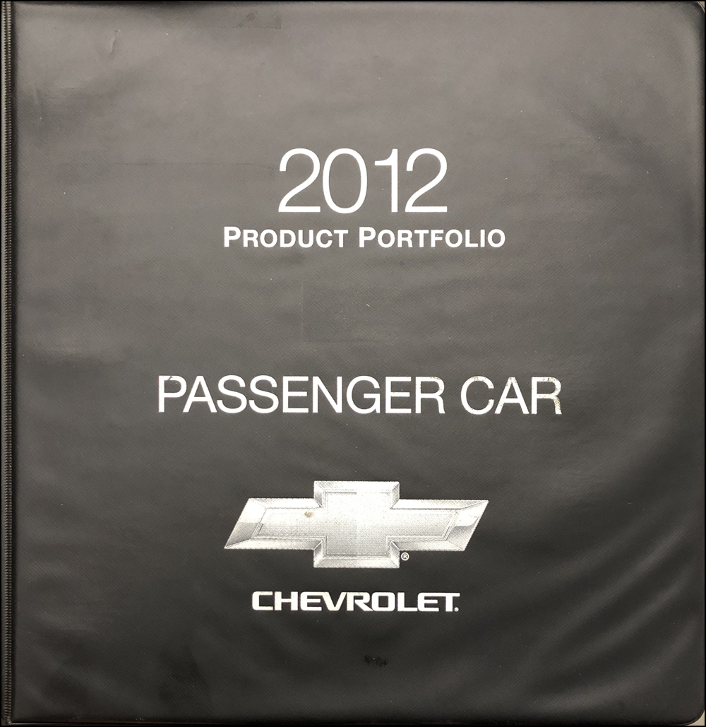 2012 Chevrolet Car Color & Upholstery Dealer Album/Data Book Original
