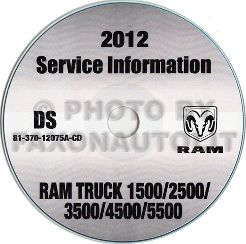 2012 Ram Truck 1500 2500 3500 4500 5500 Repair Shop Manual CD-ROM Dodge