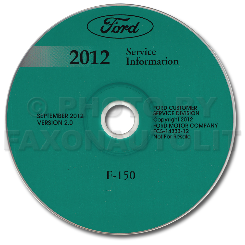 2012 Ford F-150 Pickup Truck Repair Shop Manual on CD-ROM Original