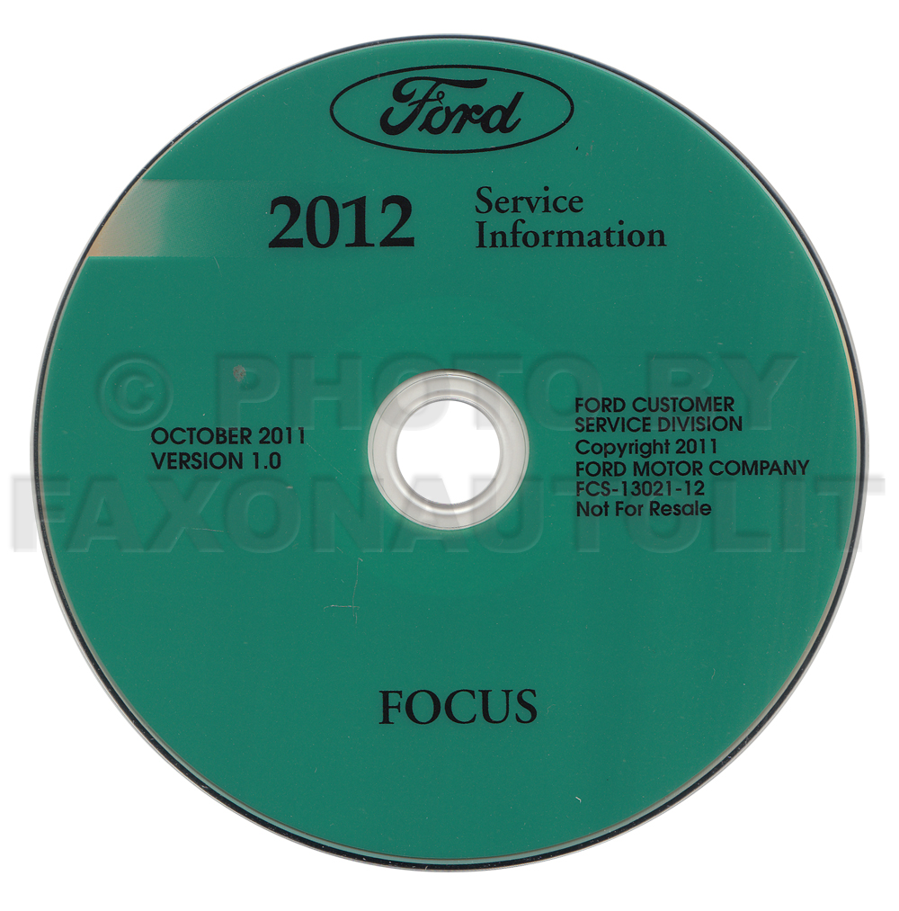 2012 Ford Focus Repair Shop Manual on CD-ROM Original