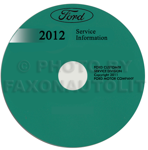 2012 Ford Fiesta Repair Shop Manual on CD-ROM Original