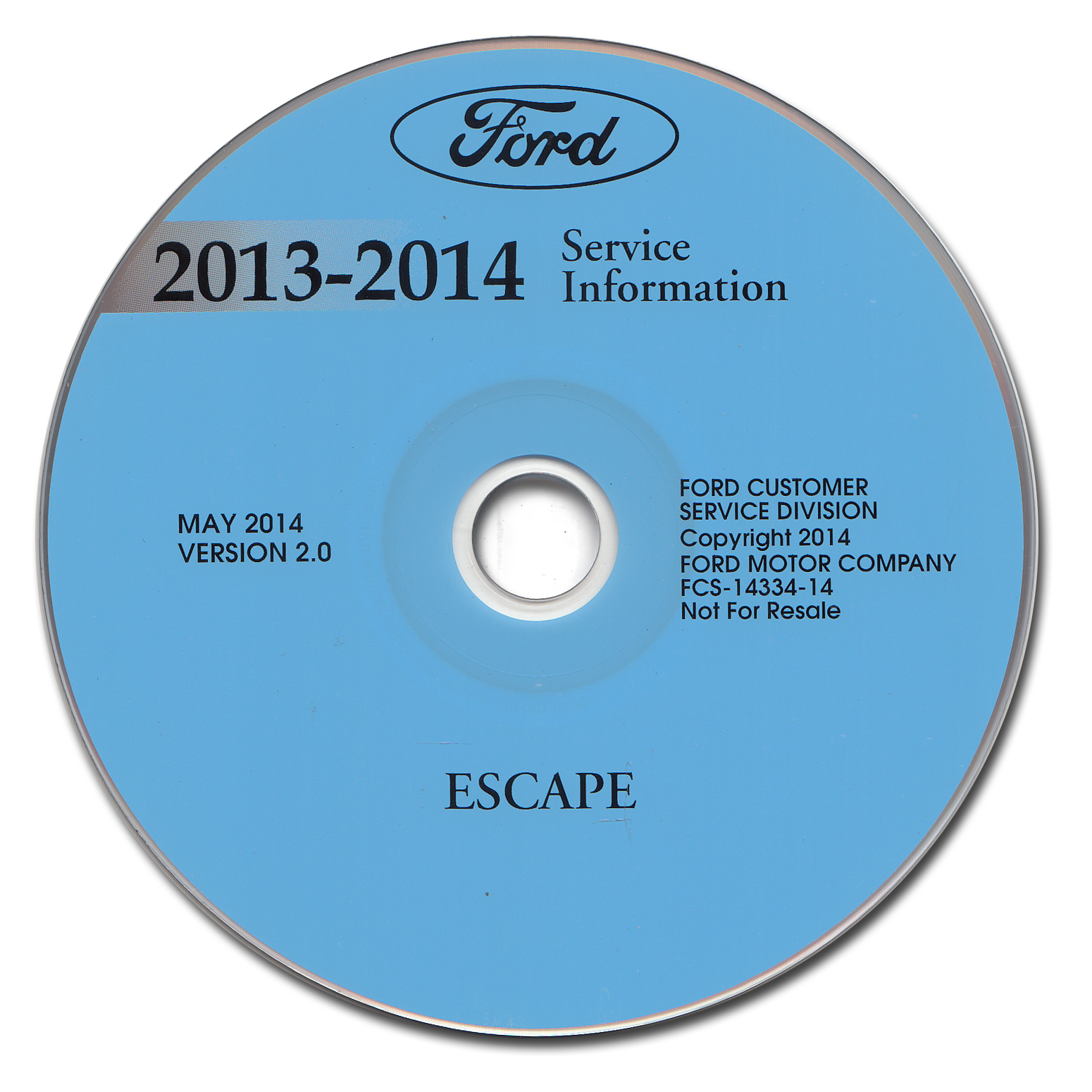 2014 Ford Escape Repair Shop Manual on CD-ROM Original