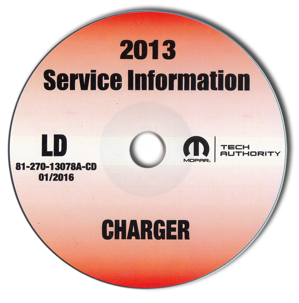 2013 Dodge Charger Repair Shop Manual CD-ROM