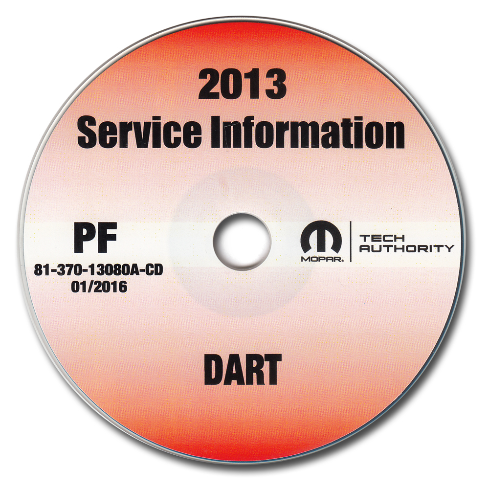 2013 Dodge Dart Repair Shop Manual CD-ROM