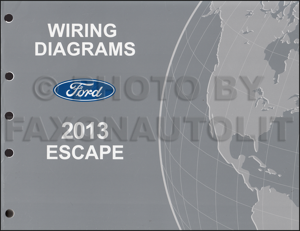 2013 Ford Escape Wiring Diagram Manual Original