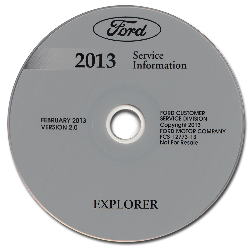 2013 Ford Explorer Repair Shop Manual on CD-ROM Original
