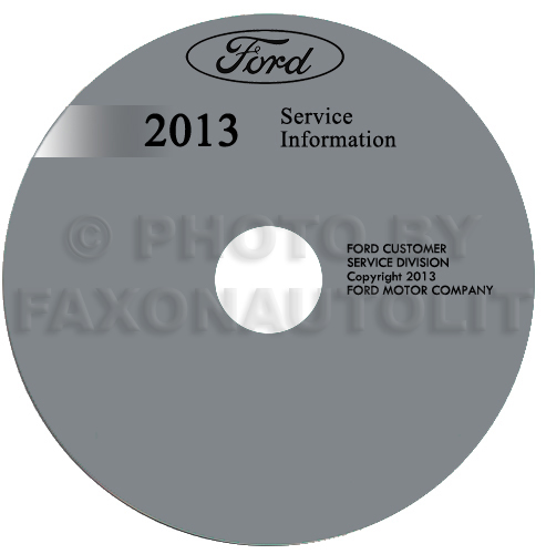2013 Ford Econoline Repair Shop Manual on CD-ROM Original Van E150 E250 E350 E450