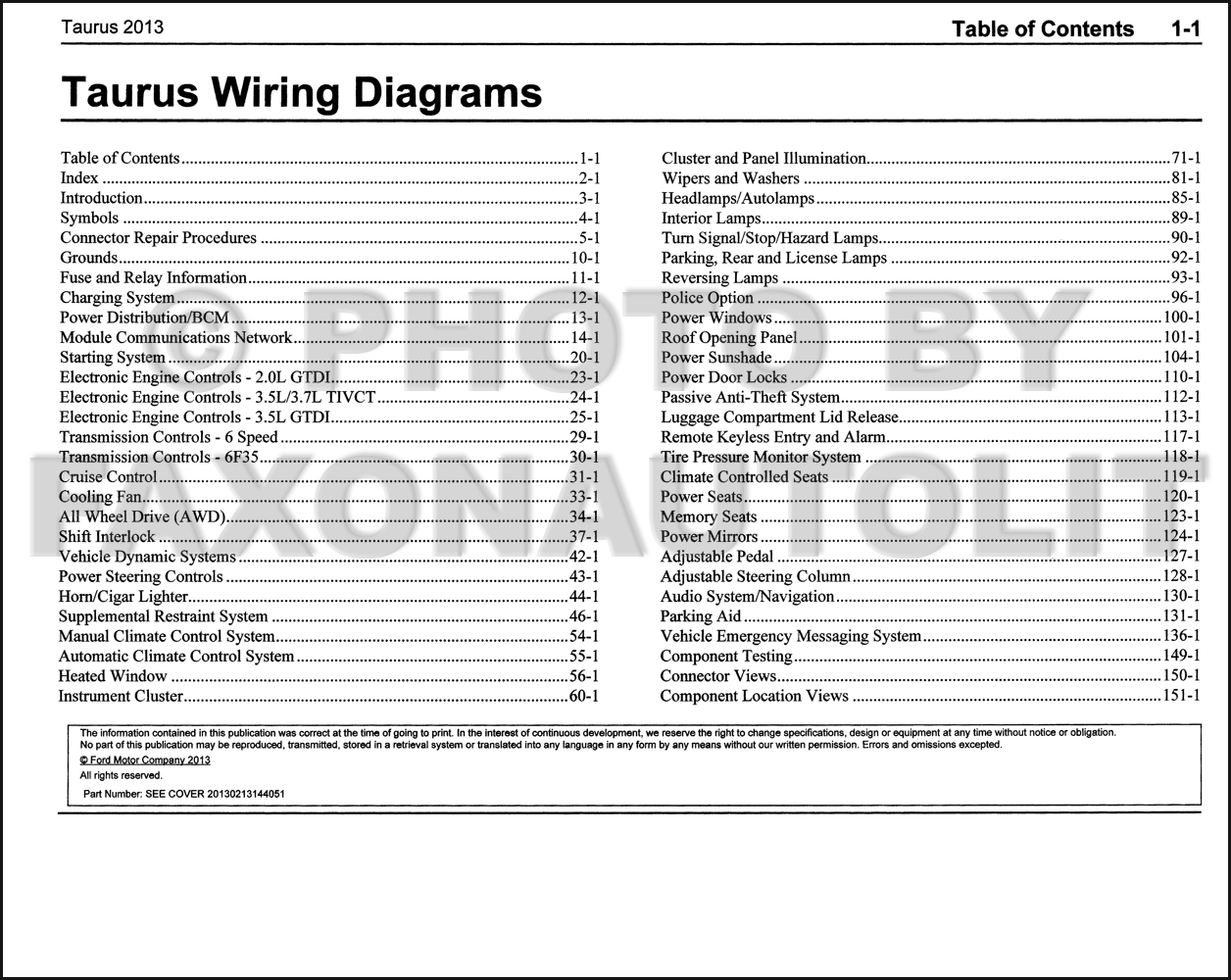 2013 Ford Taurus Wiring Diagram Manual Original 2003 Power Window