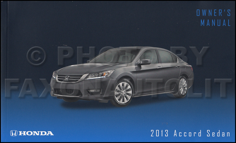 2013 Honda Accord Sedan Owner's Manual Original 4 Door