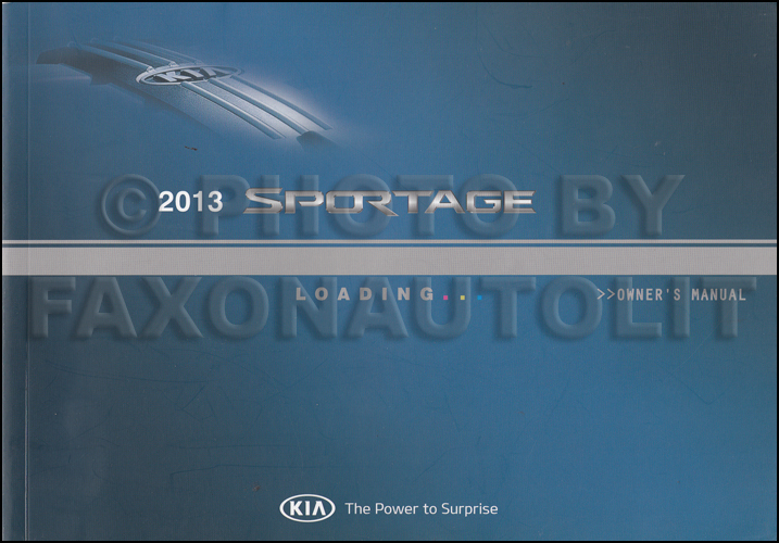 2013 Kia Sportage Owners Manual Original