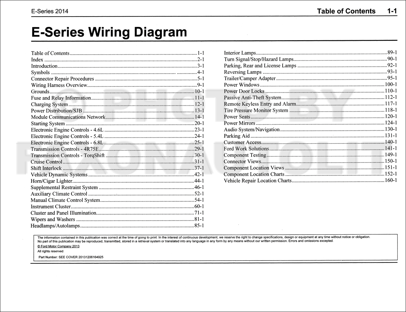 2014 Ford Econoline Wiring Diagram Manual Original Van