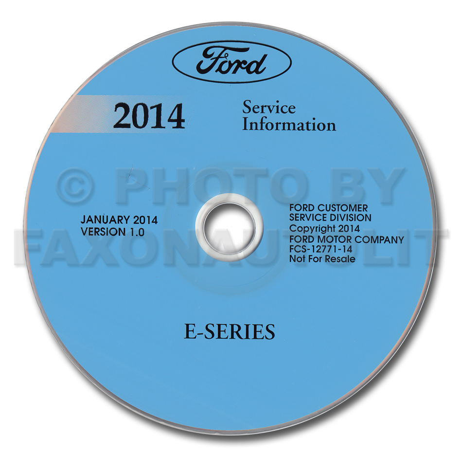 2014 Ford Econoline Repair Shop Manual on CD-ROM Original
