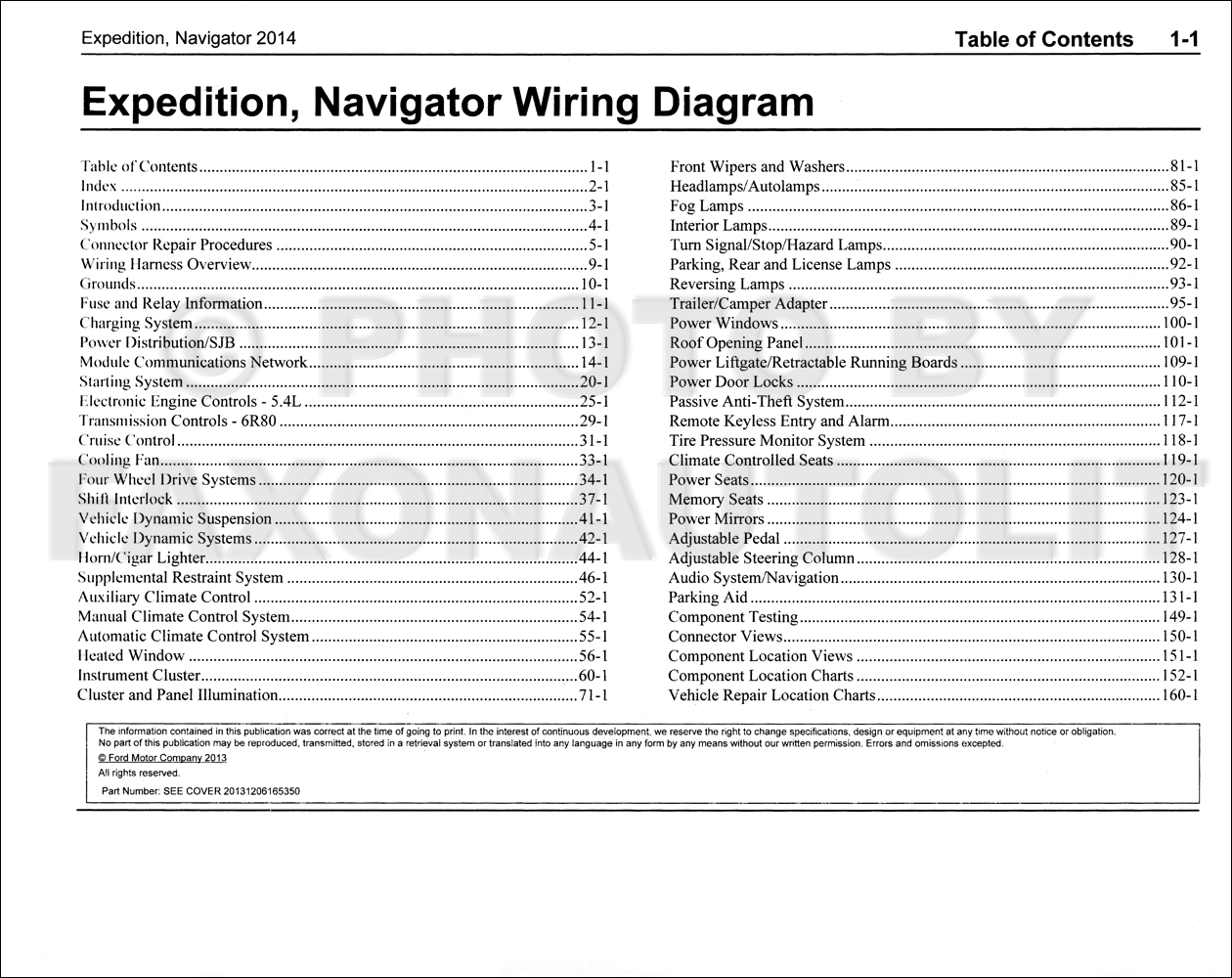 2014 Ford Expedition Lincoln Navigator Wiring Diagram