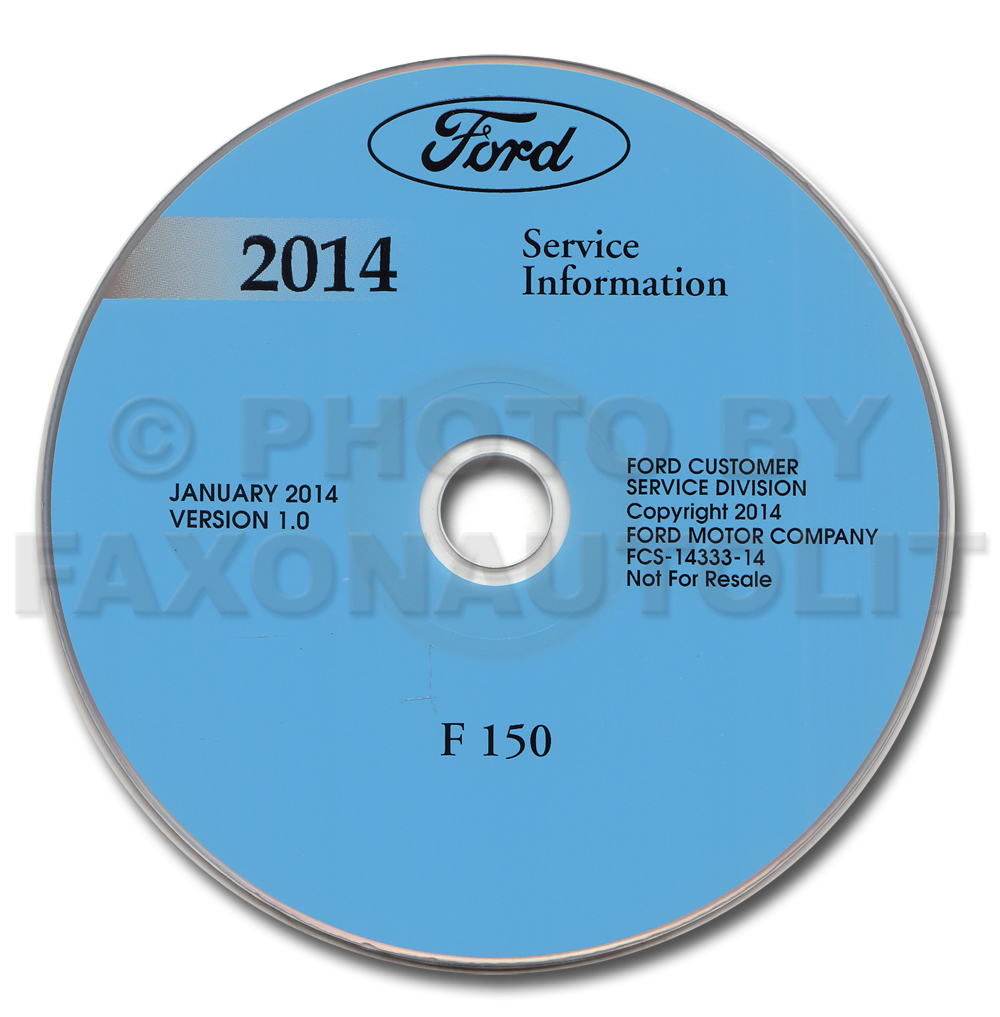 2014 Ford F-150 Repair Shop Manual on CD-ROM Original