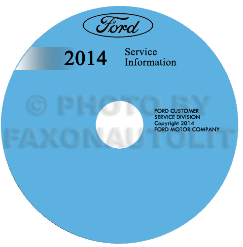 2014 Ford Fiesta Repair Shop Manual on CD-ROM Original