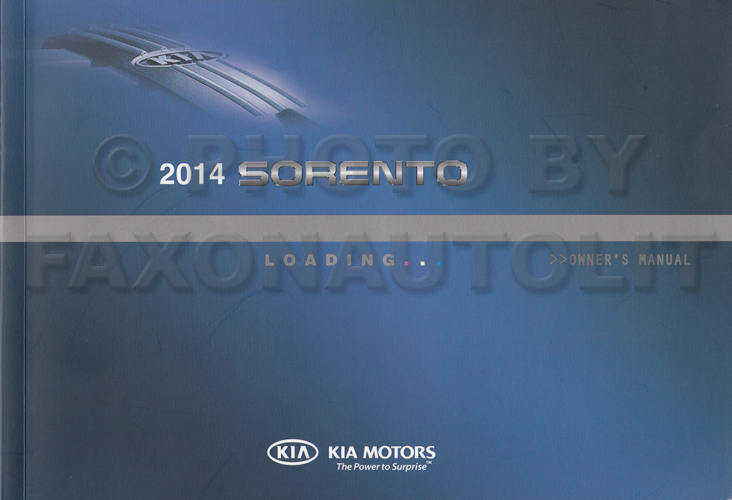 2014 Kia Sorento Owners Manual Original