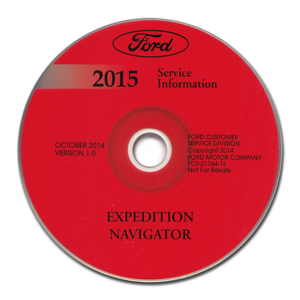 2015 Ford Expedition Lincoln Navigator Repair Shop Manual on CD-ROM Original