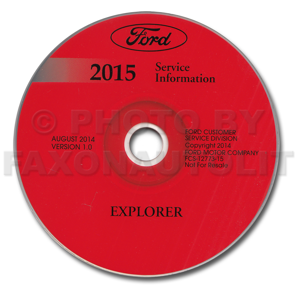 2015 Ford Explorer Repair Shop Manual on CD-ROM Original