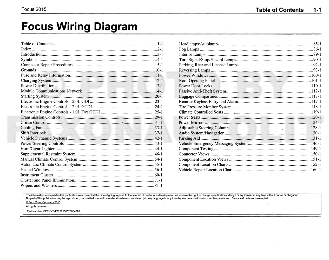 2015 ford focus wiring diagram manual original rh faxonautoliterature com 2015 ford focus se stereo wiring diagram 2015 ford focus headlight wiring diagram