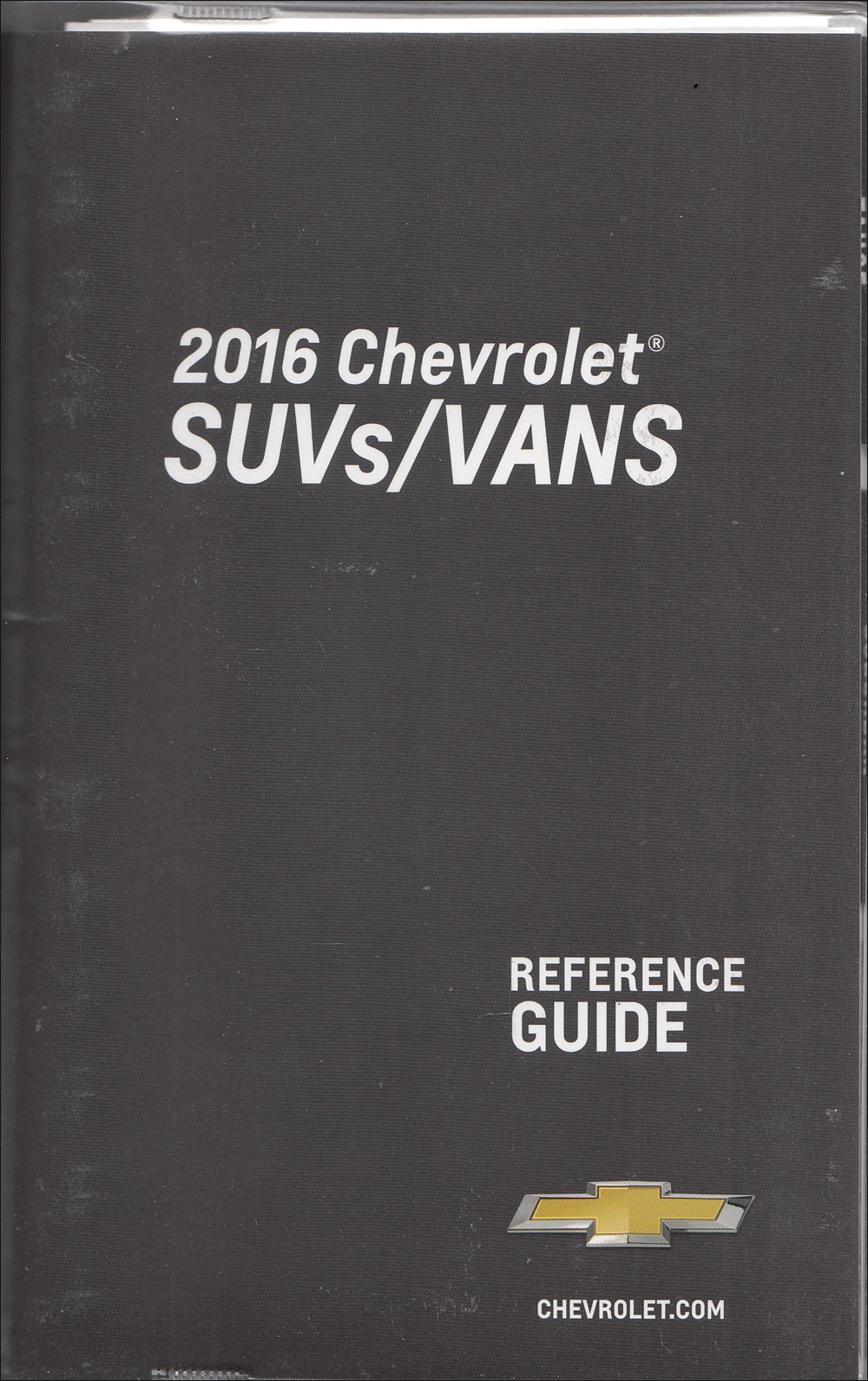 2016 Chevrolet SUV & Vans Data Book with Color & Upholstery Original