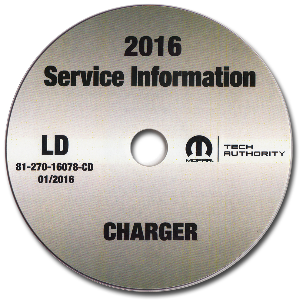 2016 Dodge Charger Repair Shop Manual CD-ROM