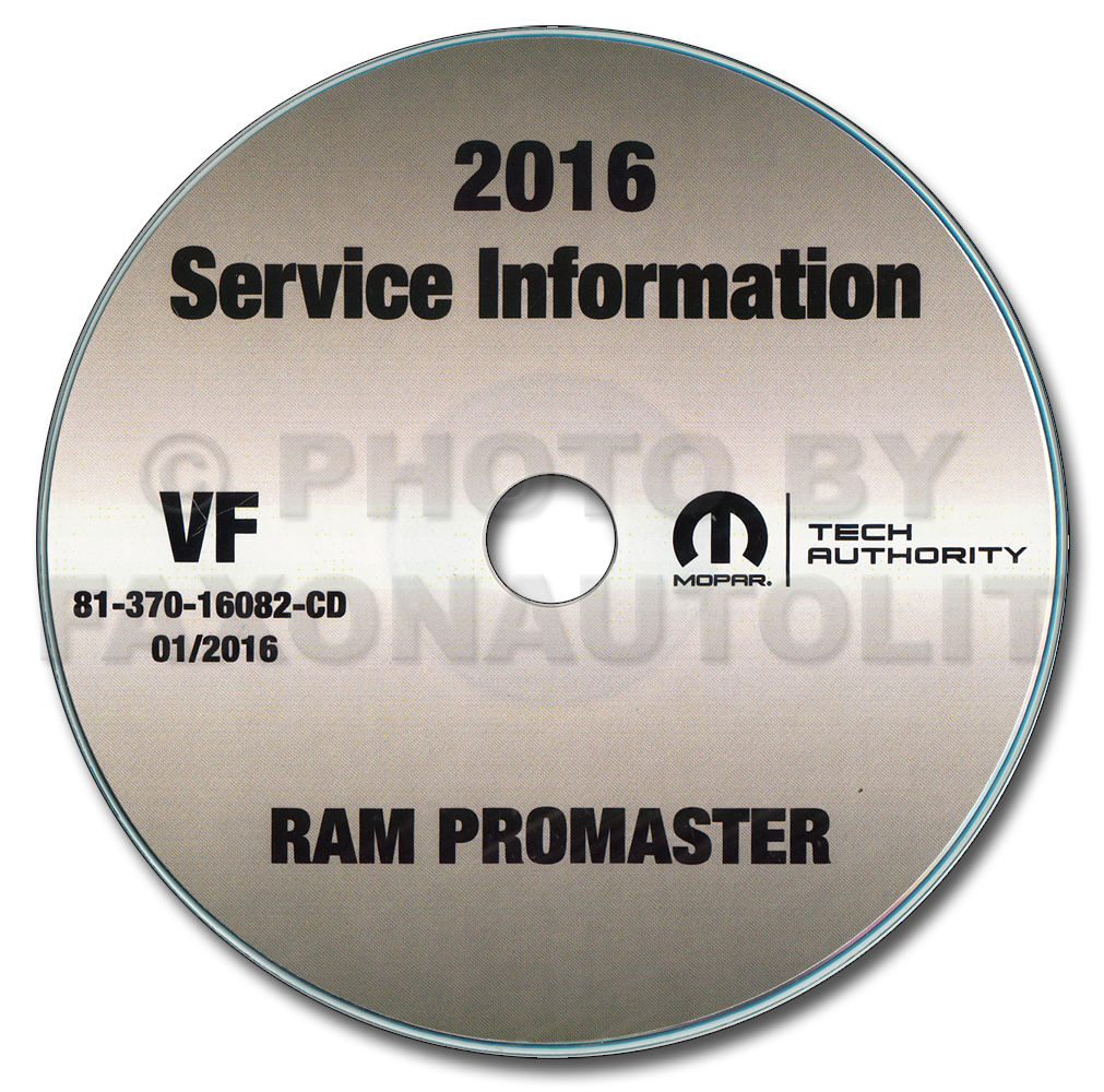 2016 Ram Promaster Repair Shop Manual CD-ROM 1500 2500 3500 Dodge