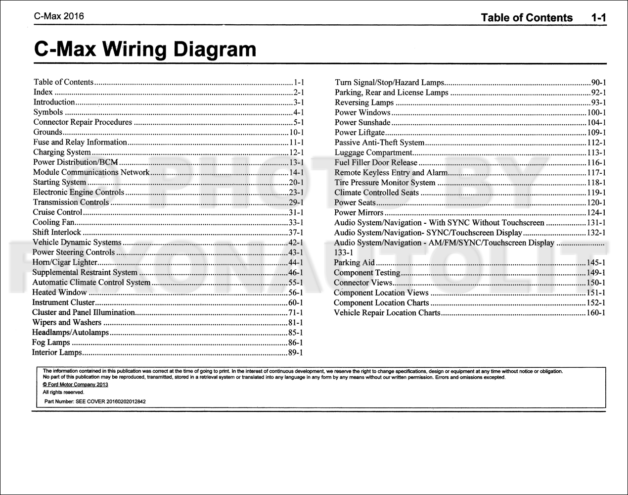 ford c max 2006 fuse box ford c max 2008 wiring diagrams 2016 ford c-max wiring diagram manual original