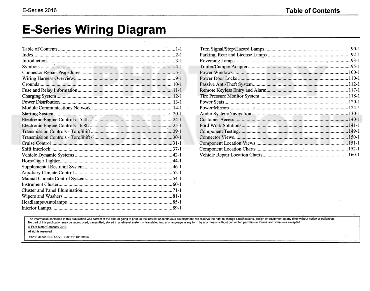 2016 Ford E 350 And 450 Wiring Diagram Manual Original 2000 Super Duty Diagrams