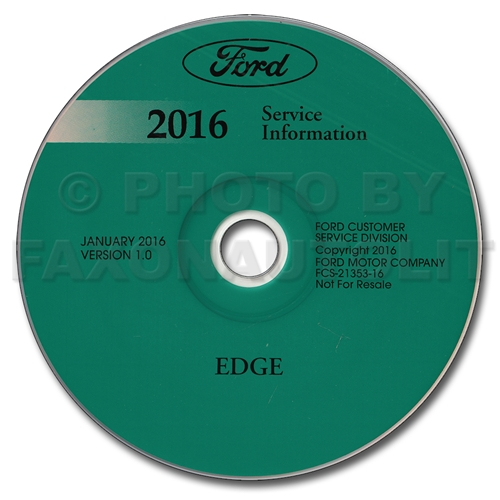 2016 Ford Edge Repair Shop Manual on CD-ROM Original